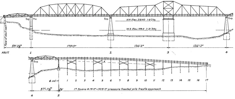 Existing bridge drawing.