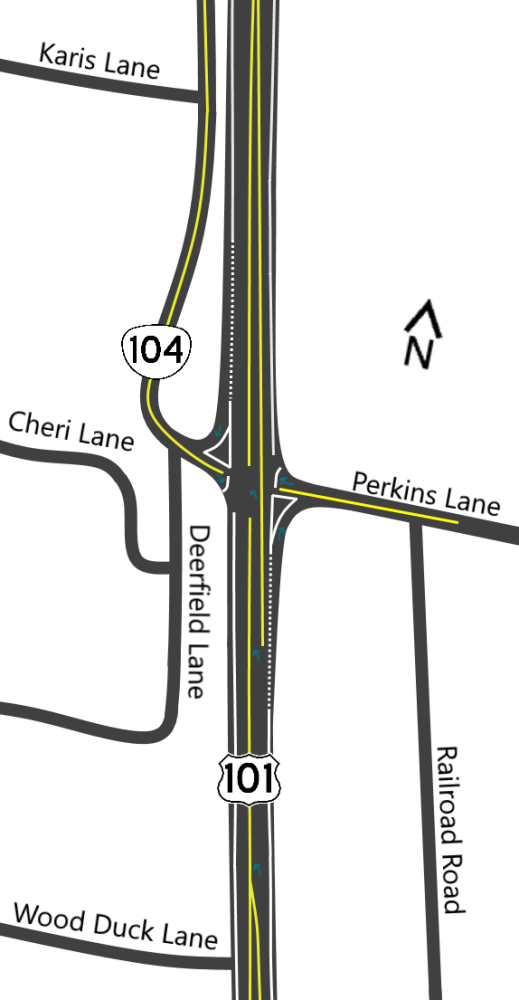 Intersection Layout Map